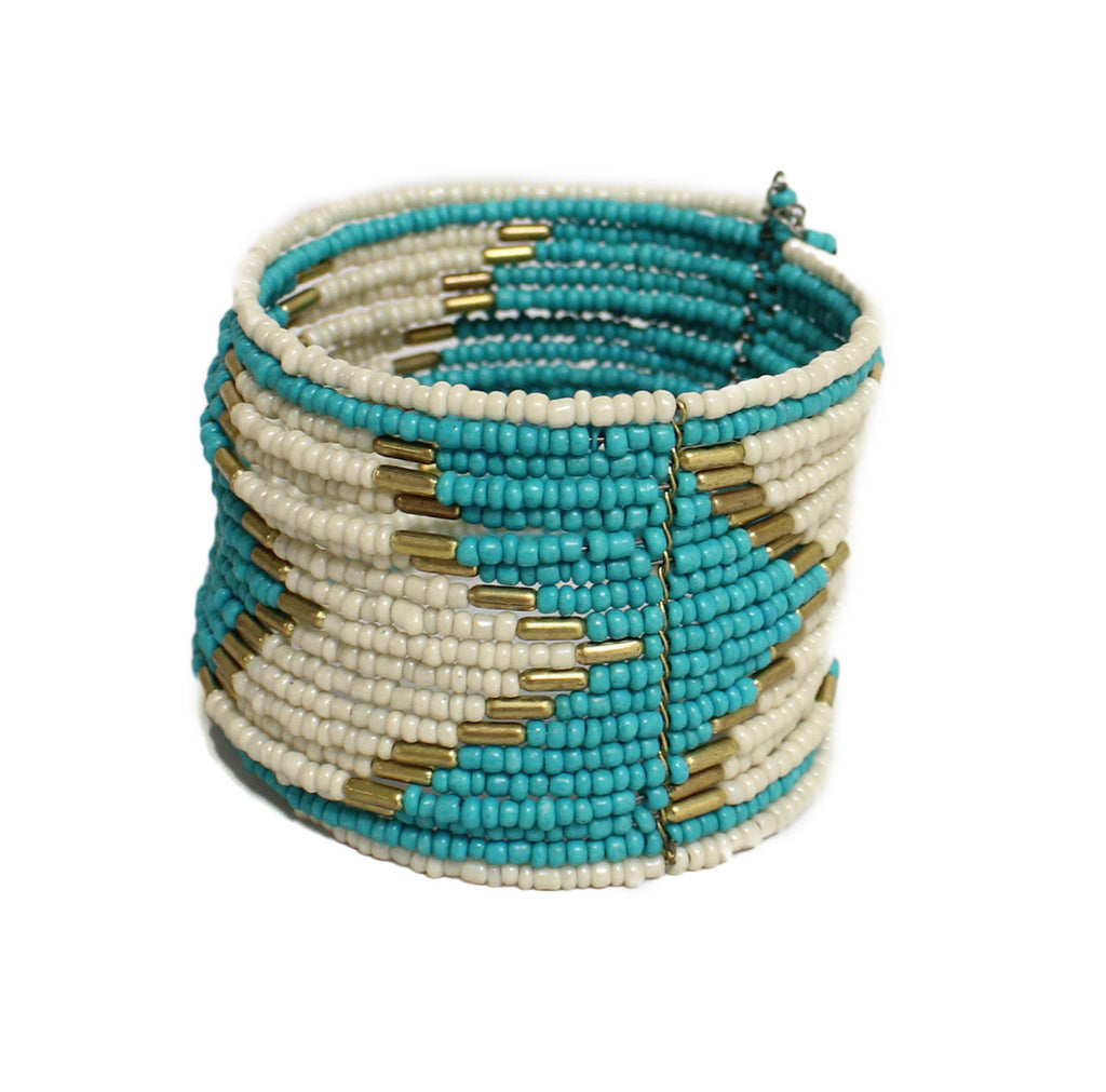 Beaded Beauty Bracelet in Teal