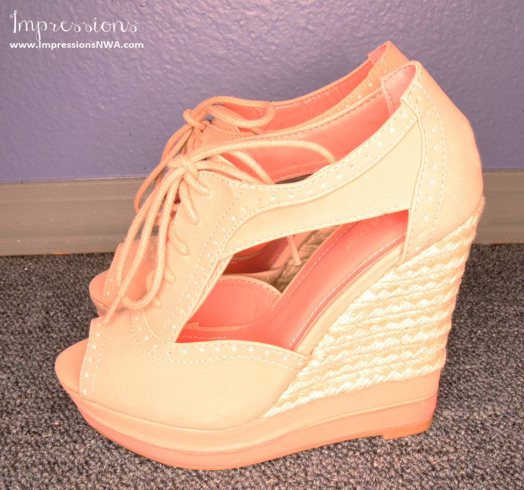 Beatles Bound Wedge in Nude