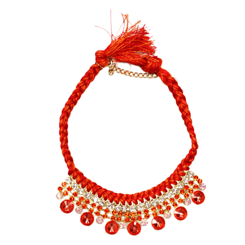 Belize Vacationing Necklace in Red