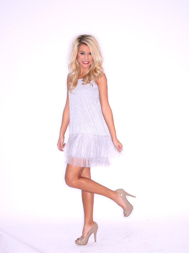 TuTu Cute Slip Dress Heather Grey