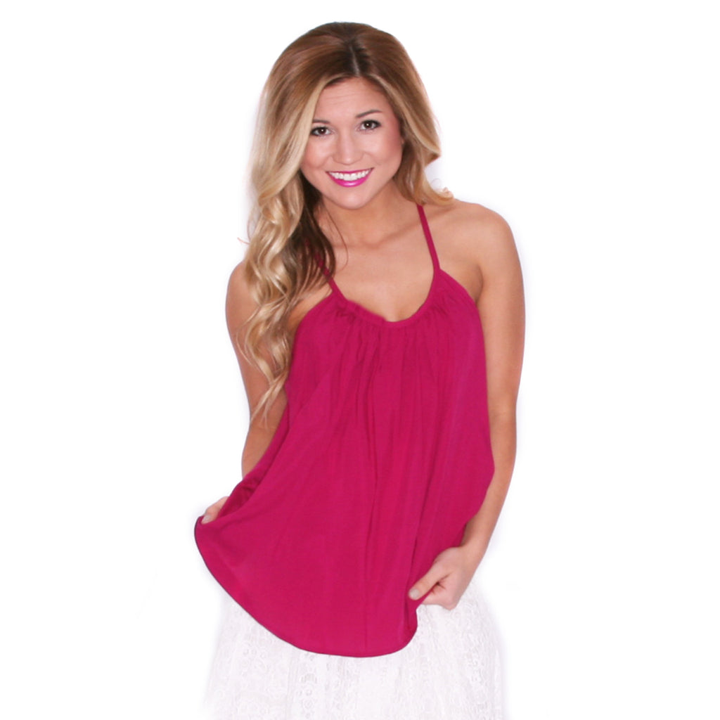 Boardwalk Tank in Magenta