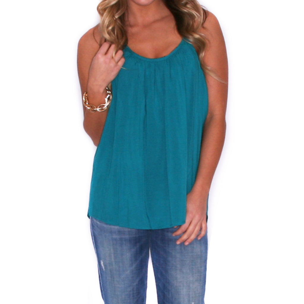 Boardwalk Tank in Teal