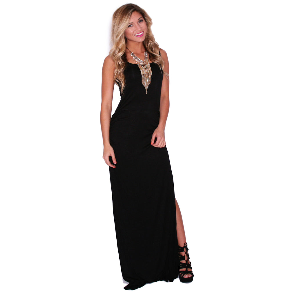 So Boho Chic Maxi in Black