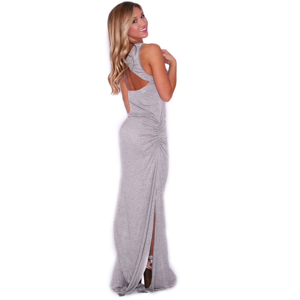 So Boho Chic Maxi in Heather Grey