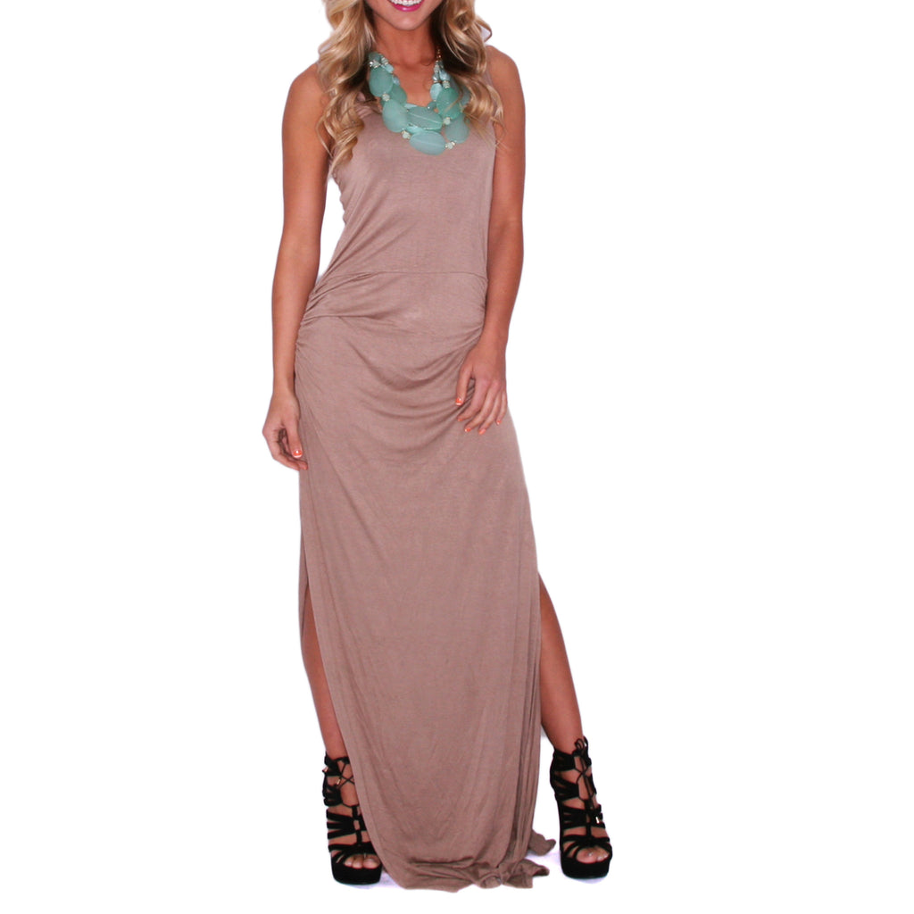 So Boho Chic Maxi in Taupe