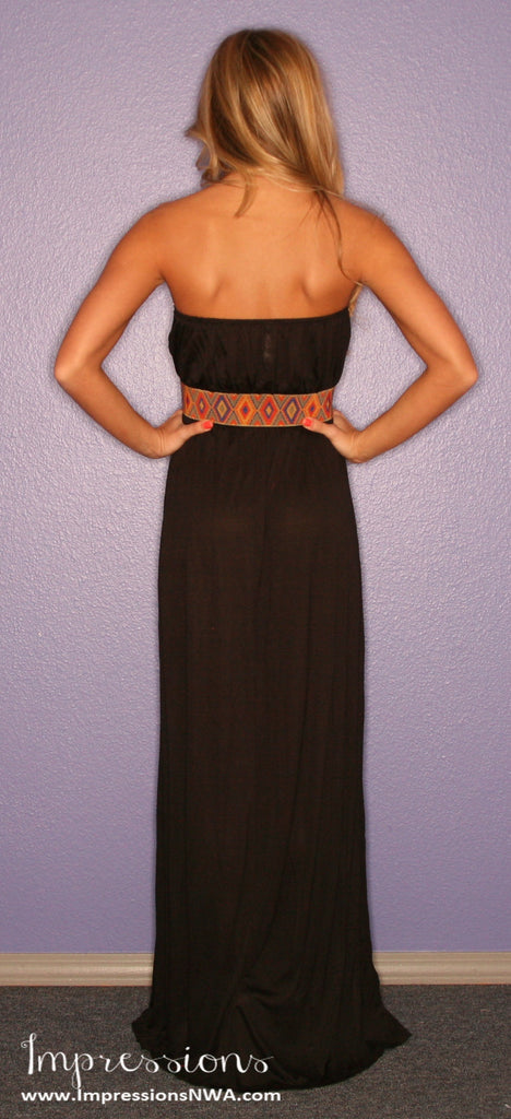Boho Luxe Maxi in Black