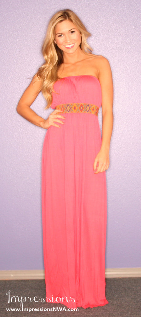Boho Luxe Maxi in Coral