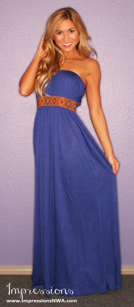 Boho Luxe Maxi in Royal