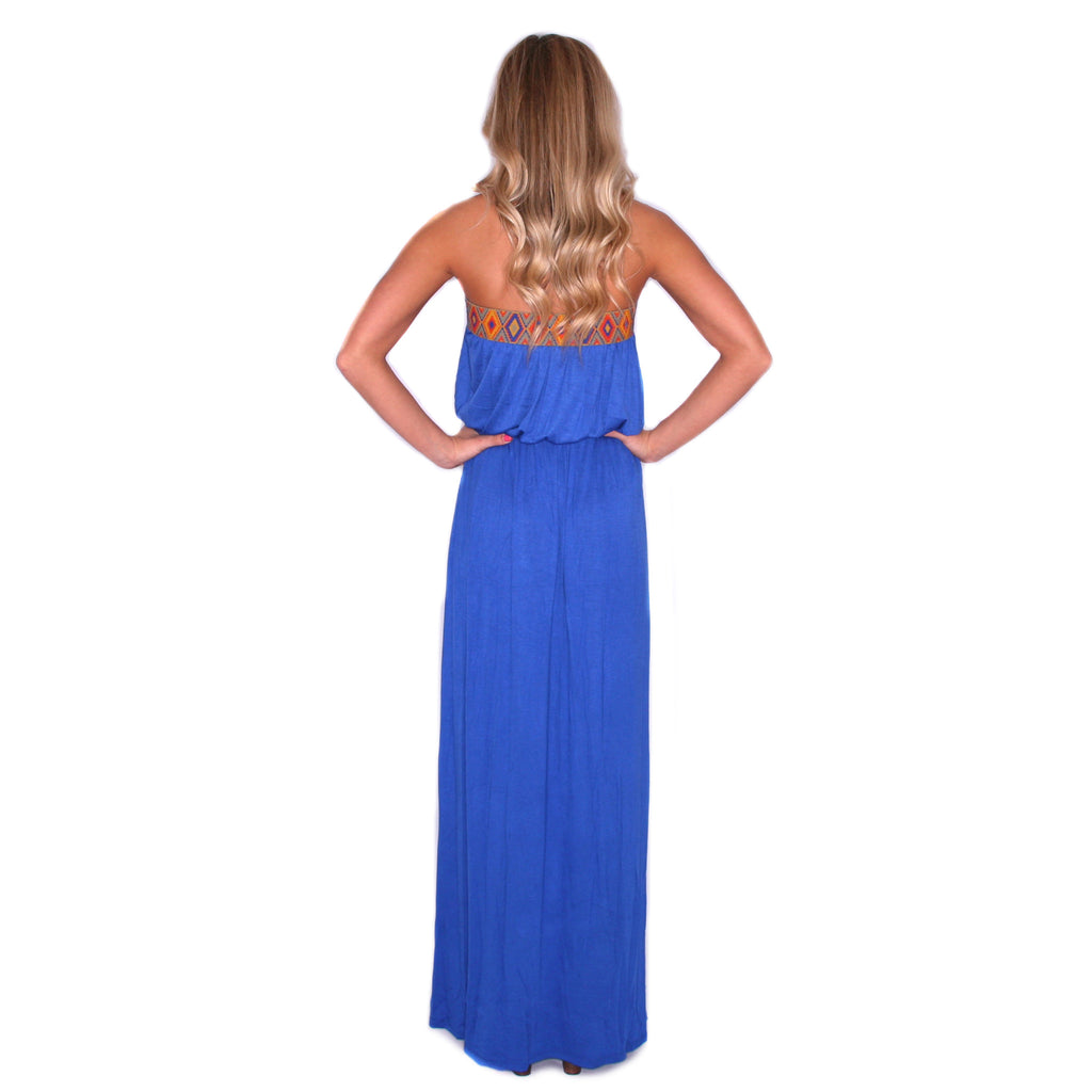 Boho Luxe Maxi in Blue