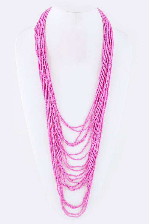 Bora Bora Bound Necklace in Pink