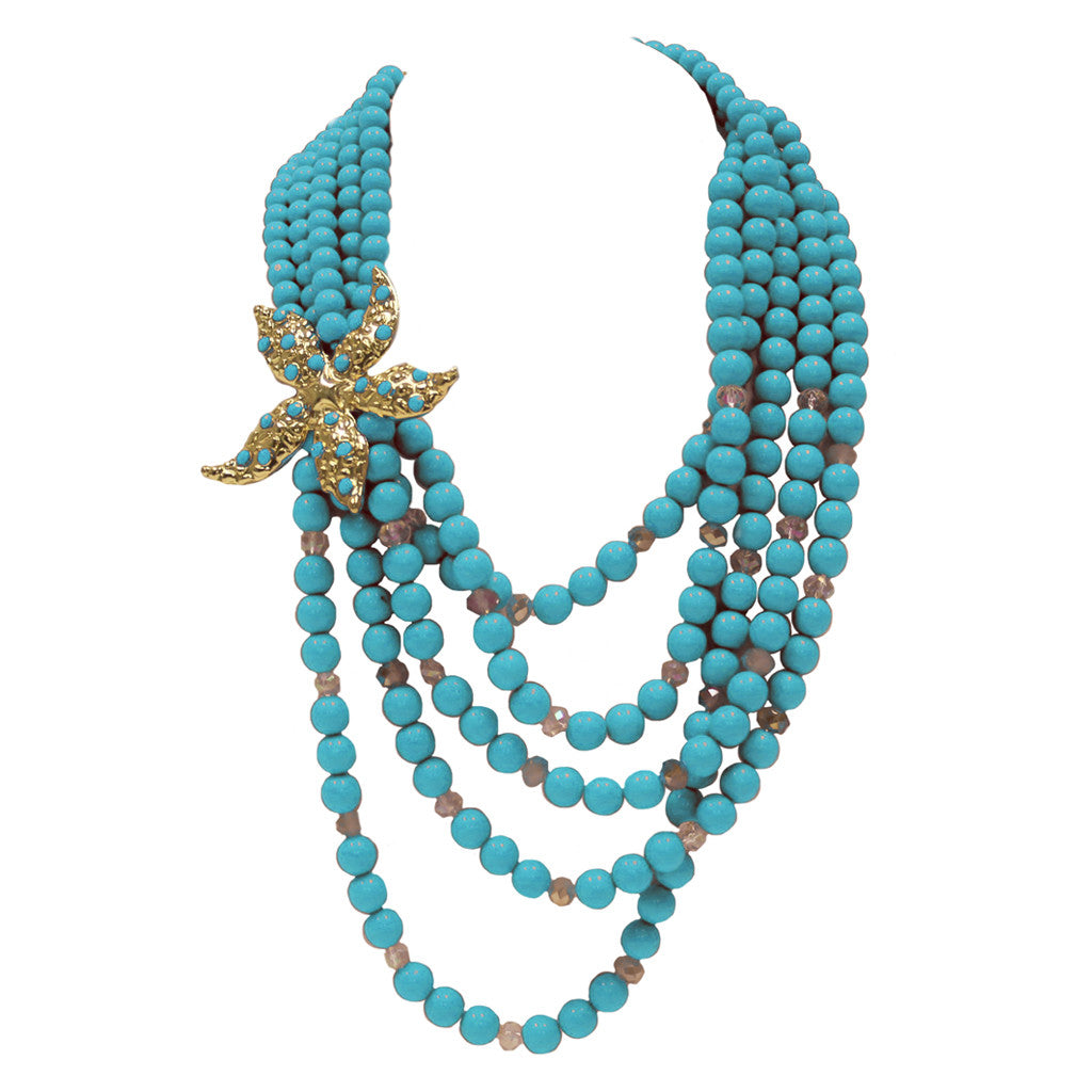 Born for the Beach Necklace in Turquoise