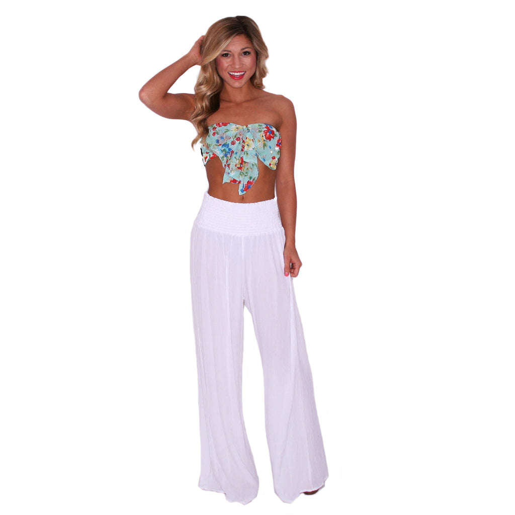 Ocean Tide Pants in White