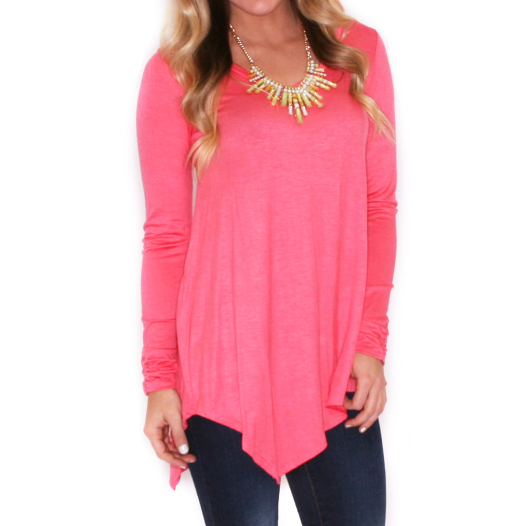 Not Your Boyfriend's Tee in Coral