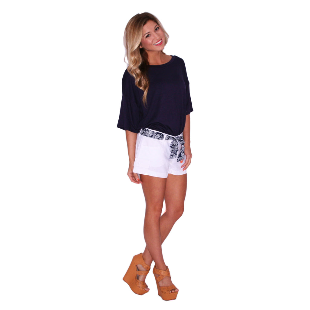 Nautical Breeze Shorts in Ivory