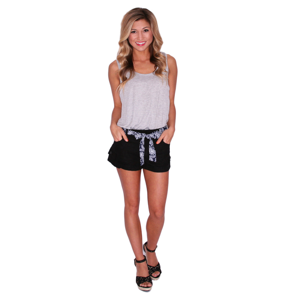 Nautical Breeze Shorts in Black