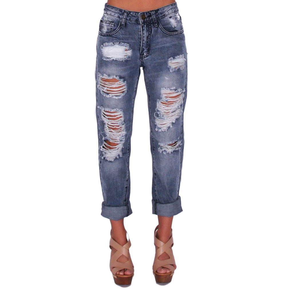 Cali Girl Distressed Denim