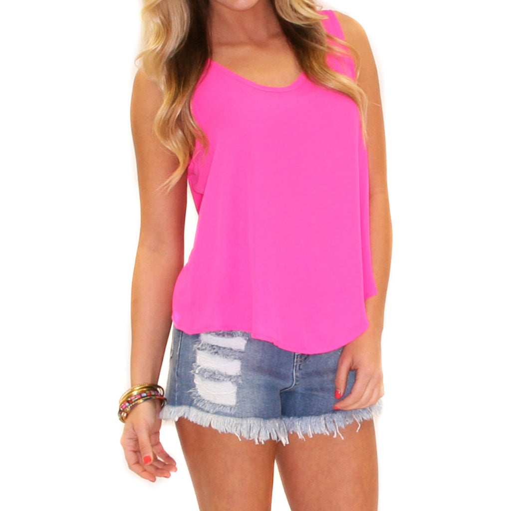 California Dreaming Tank Fuchsia
