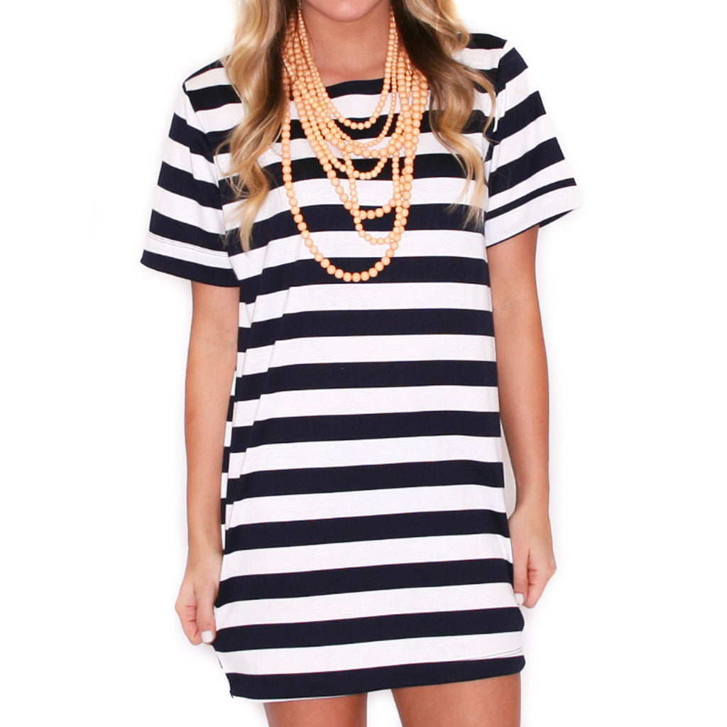 Chic & Sweet Stripe in Navy