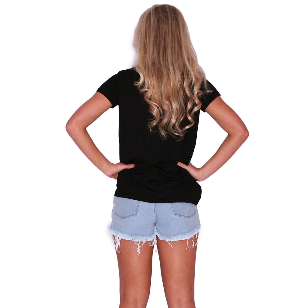 Chic Pocket Tee Black