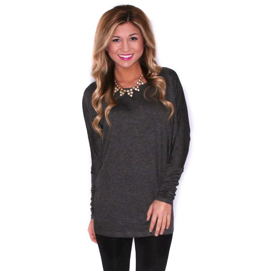Ciao Bella Tee in Charcoal