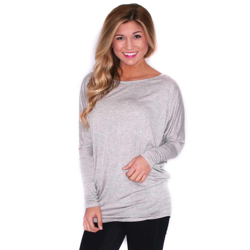 Ciao Bella Tee in Heather Grey