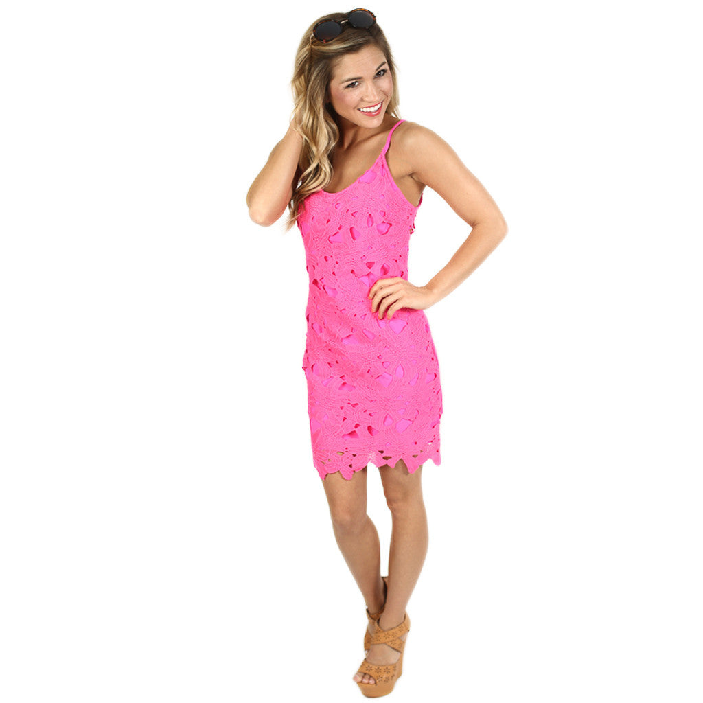 Claim To Fame Dress in Hot Pink