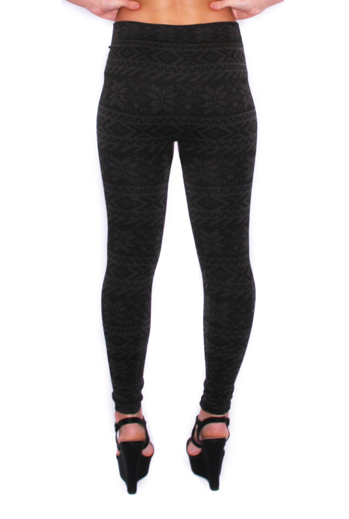Colorado Christmas Legging Charcoal