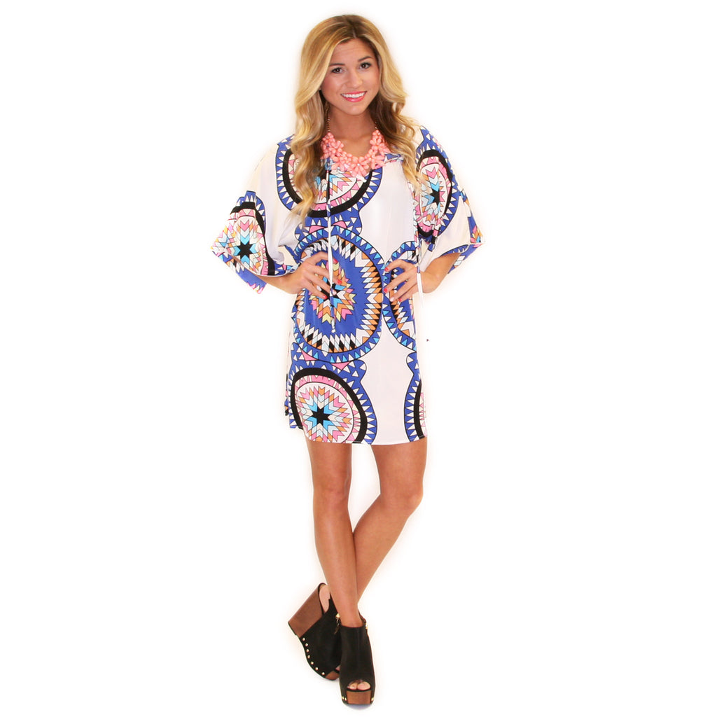 Cool Capri Tunic in Blue