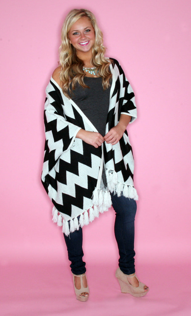 Cozy & Collected Cardi in Black