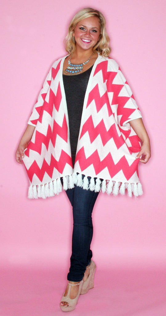 Cozy & Collected Cardi in Pink
