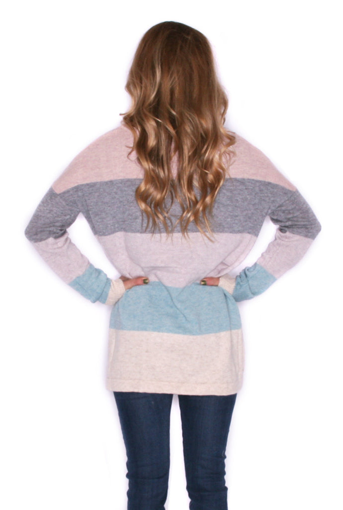 Cozy Luxury Lavender/Oatmeal Sweater