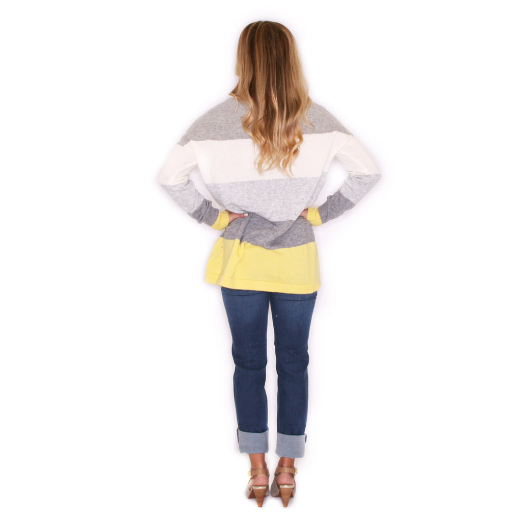 Cozy Luxury Lemon/Charcoal Sweater