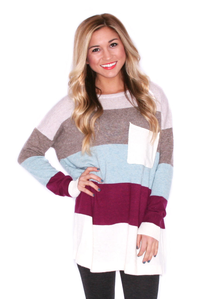 Cozy Luxury Magenta/Stone Sweater