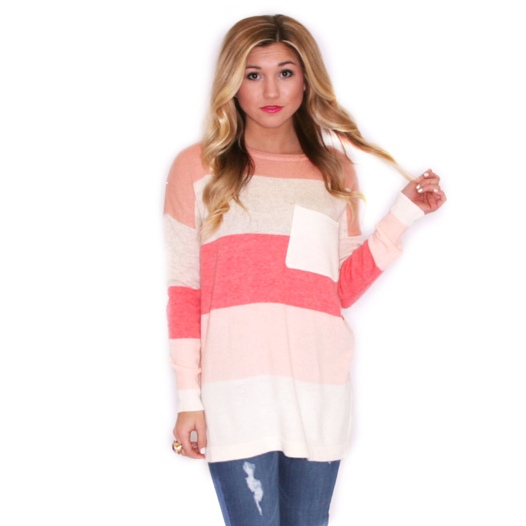 Cozy Luxury Pink/Melon Sweater