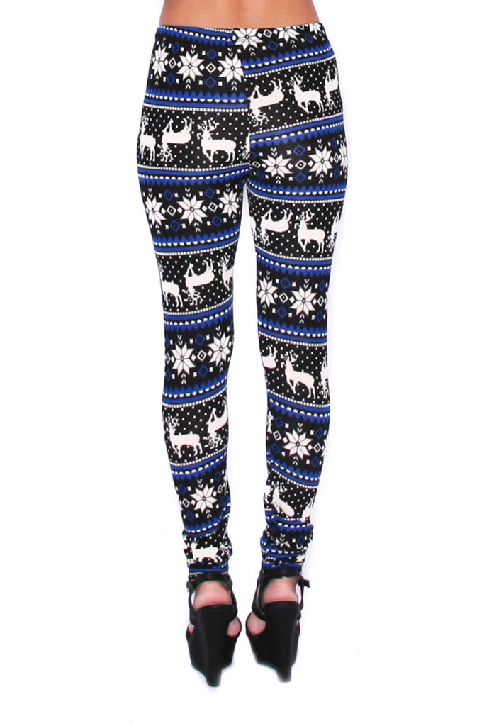 Cozy On The Slopes Legging in Blue