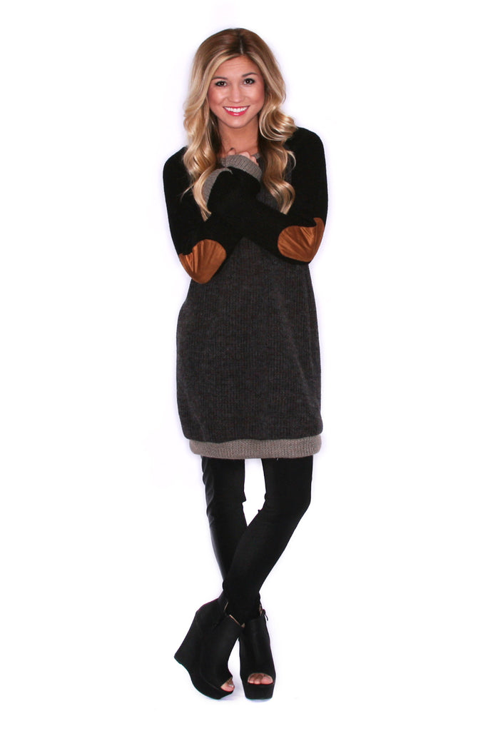 Cozy Perfection Tunic Charcoal