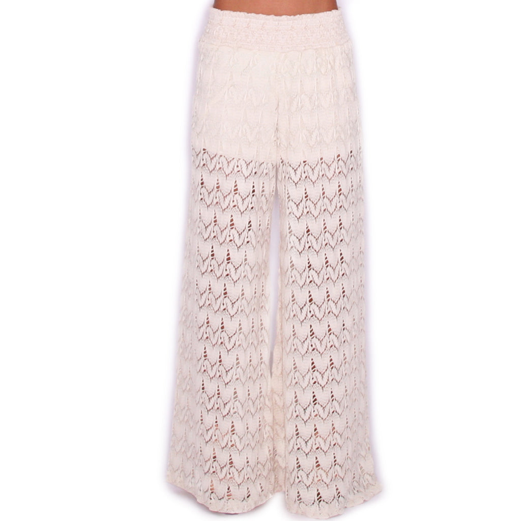 Crochet For Days Pants in Ivory