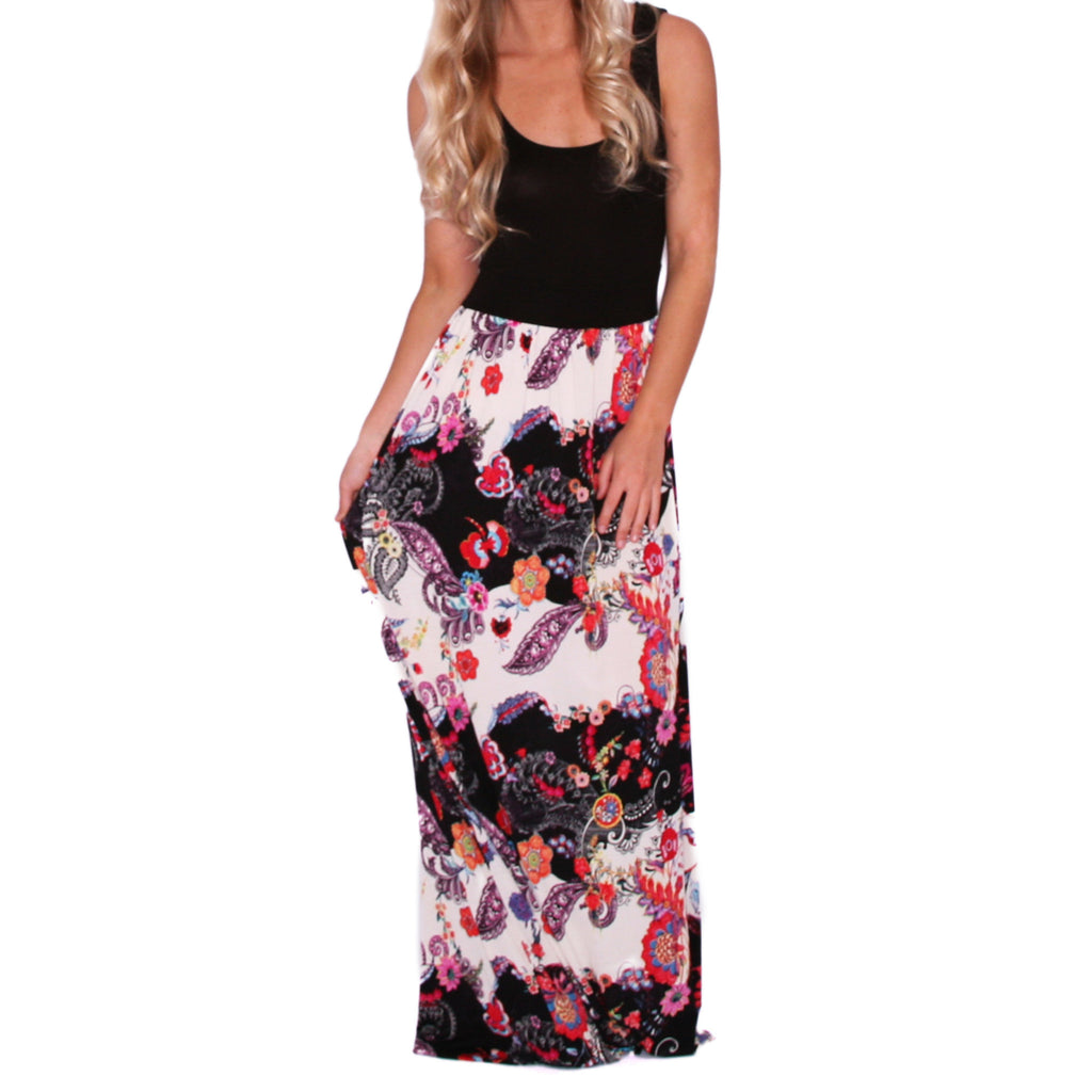 Flirting In Floral Maxi