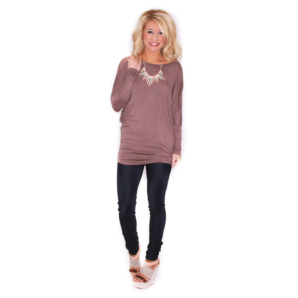 Crush Worthy Tunic Taupe