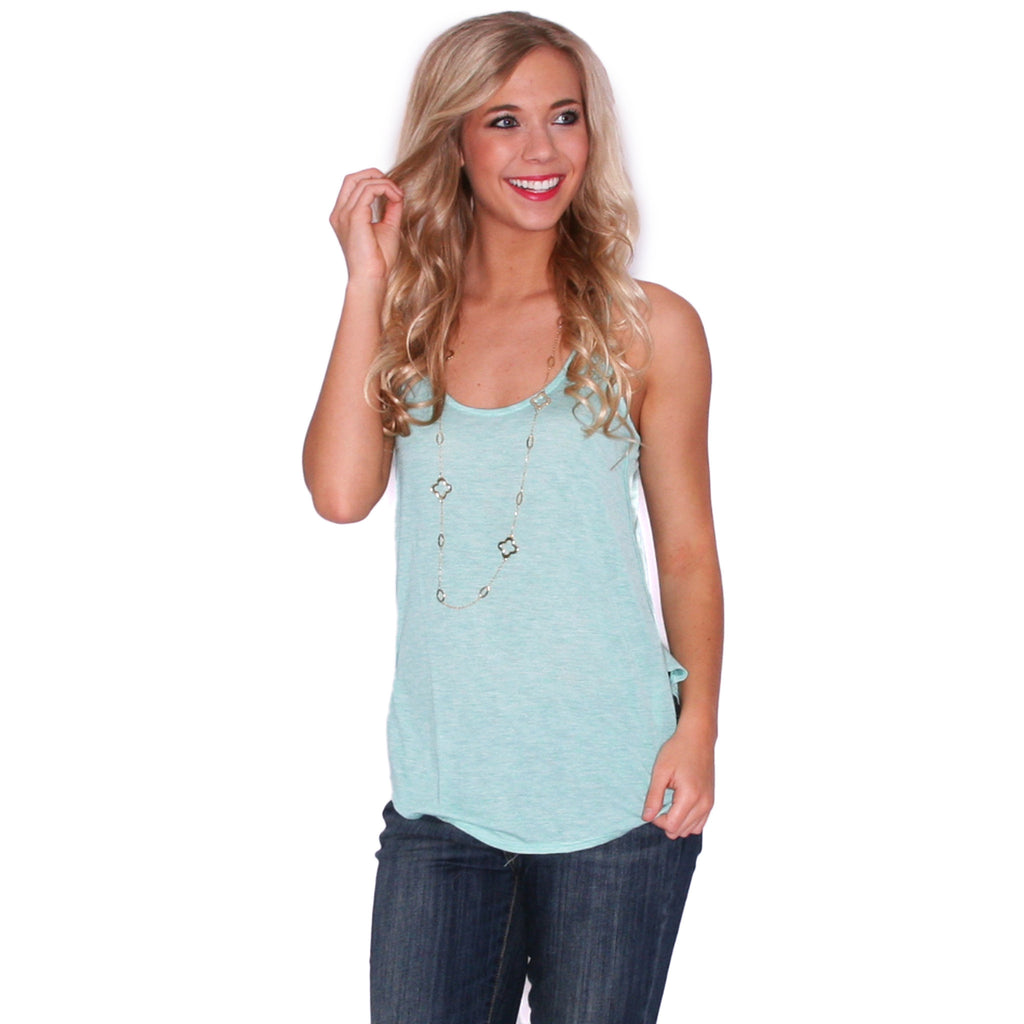 Dance Like It's Your Birthday Tank in Mint