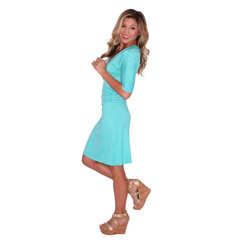 Dancing In the Moonlight Dress in Teal