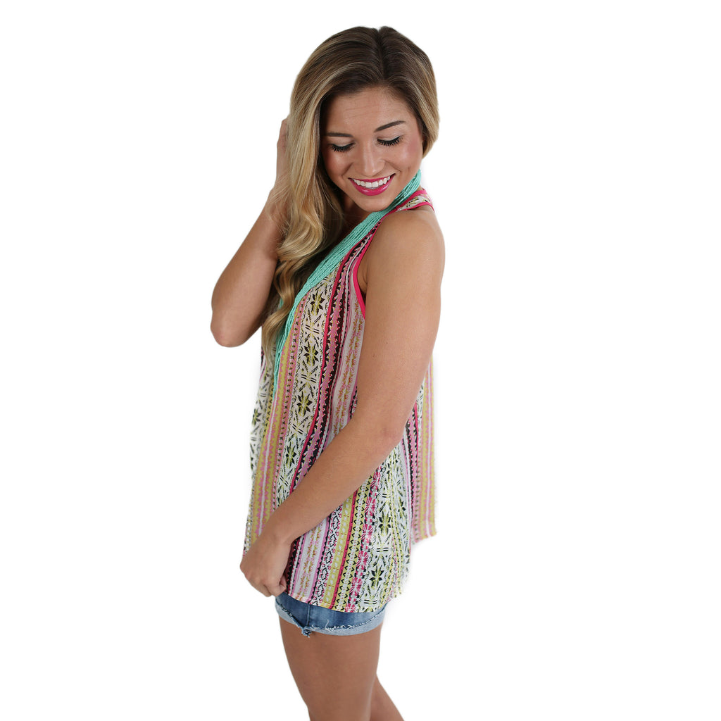 Daydream Tribal Tank Lime