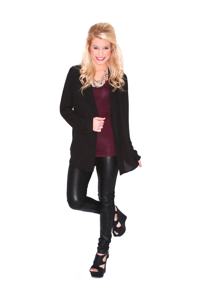 Daytime to Prime Time Blazer in Black