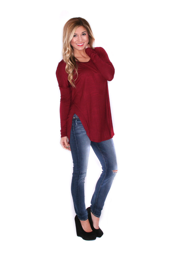 Day To Night Tunic in Burgandy