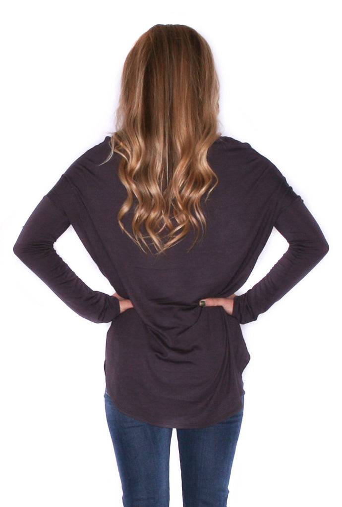 Day To Night Tunic in Charcoal