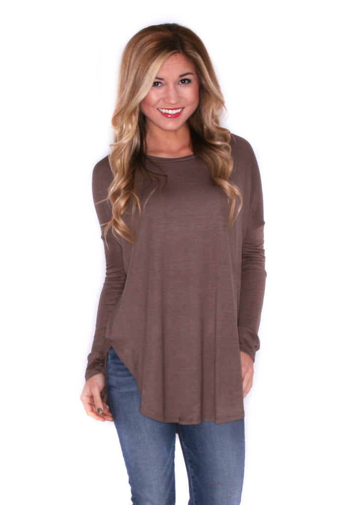 Day To Night Tunic in Mocha
