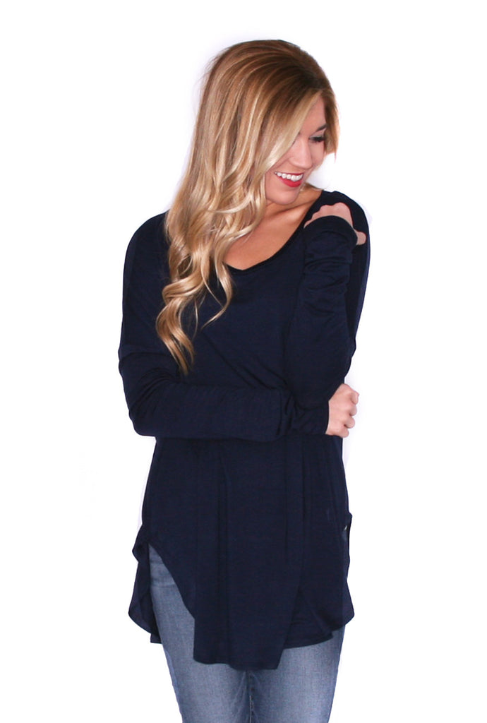 Day to Night Tunic in Navy