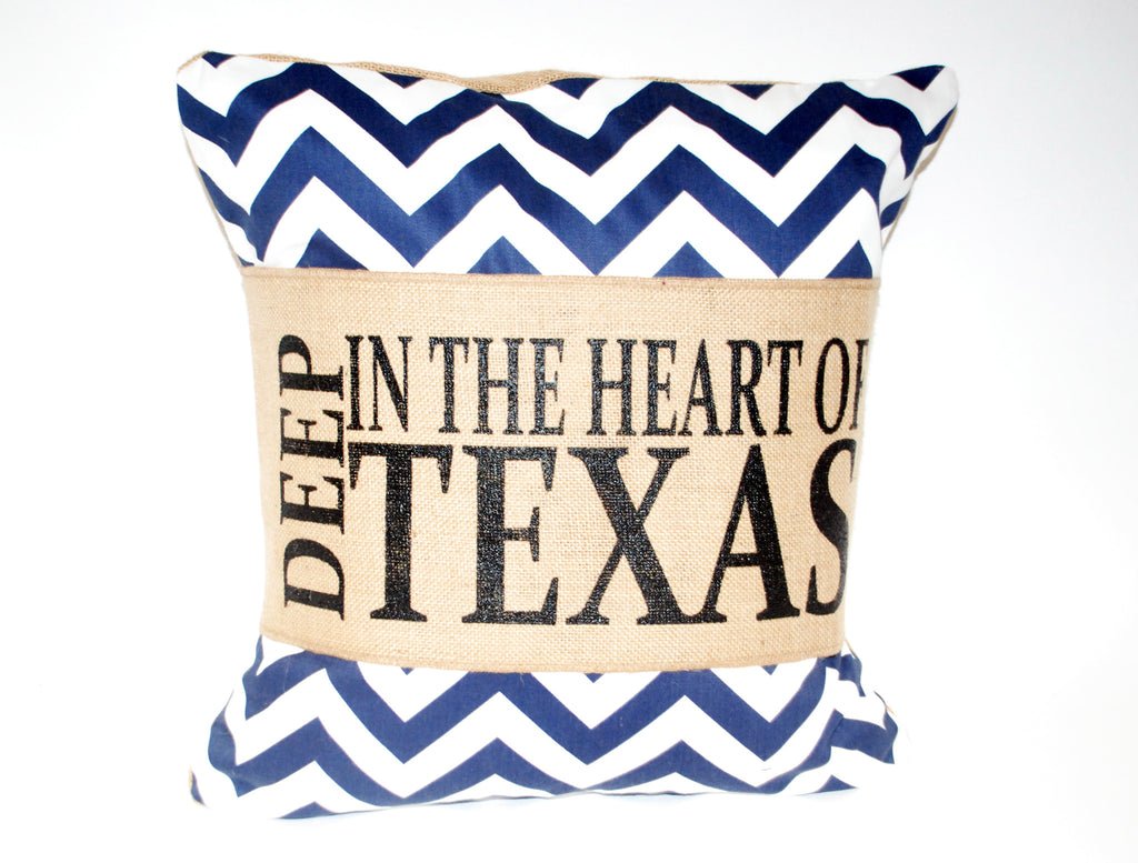 """Heart of Texas"" Pillow"
