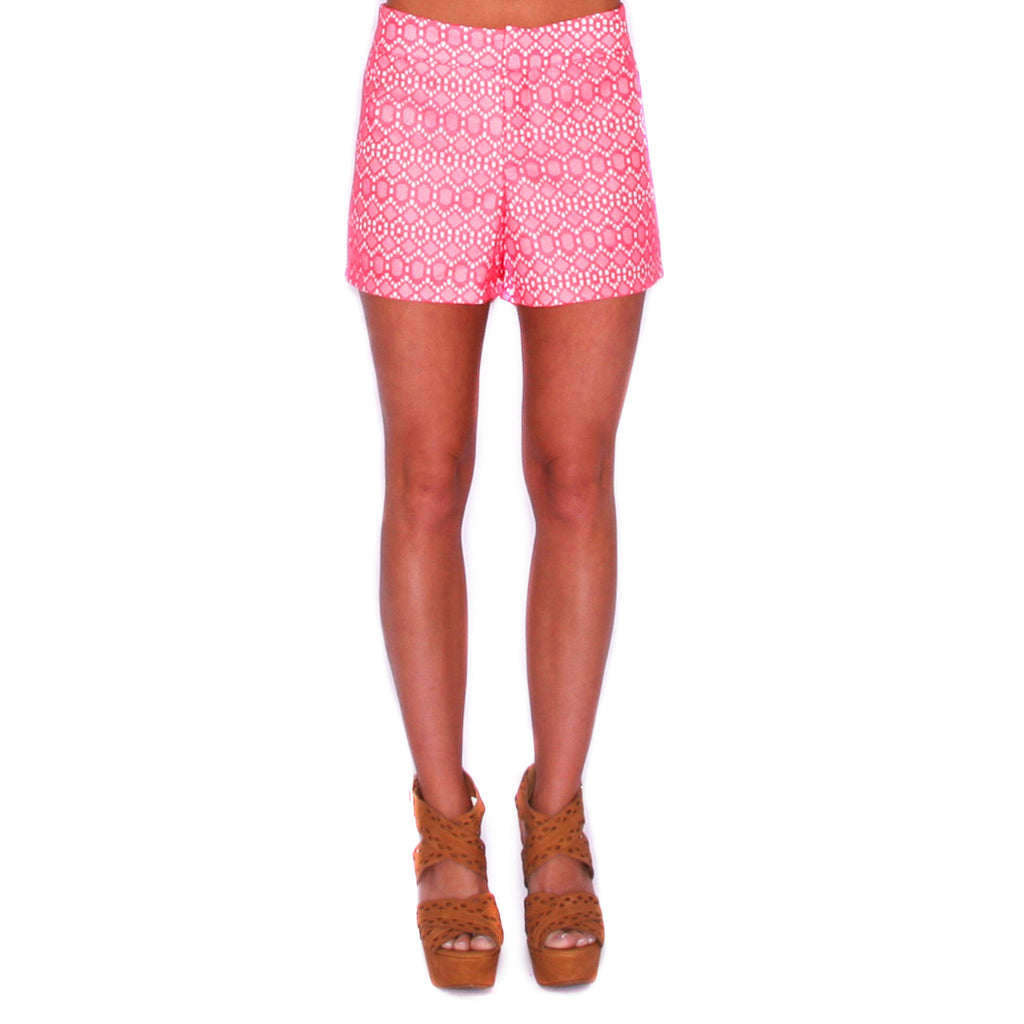 Diamonds For Days Shorts Coral