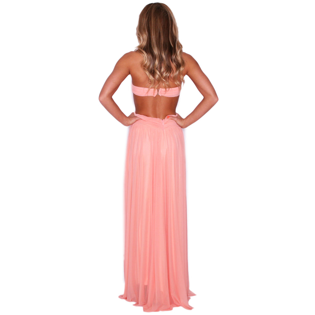 Divine Reveal Maxi in Peach